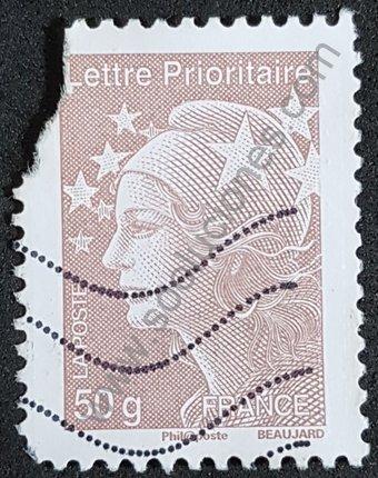 Sello Francia 2011 Lettre prioritaire 50 g Marianne