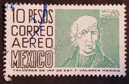 Sello Miguel Hidalgo - México 1963 valor 10 pesos mexicanos