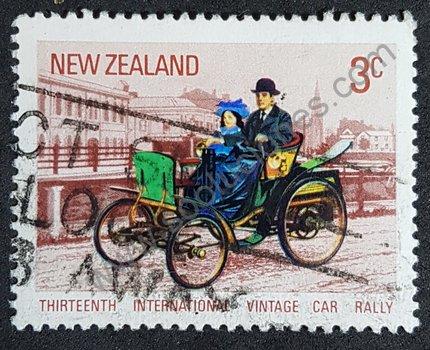 Sello 13º rally internacional coches antiguos Nueva Zelanda 1972