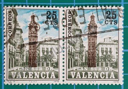 Sello Torre Santa Catalina Valencia España 1978