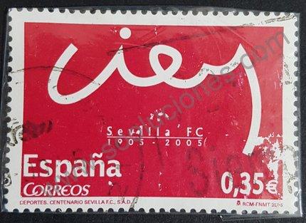 Sello centenario FC Sevilla - España 2005