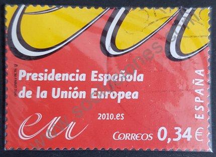 Sello Presidencia UE española 2010 valor 0,34€