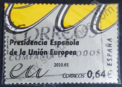 Presidencia española EU sello 2010 valor 0,64€