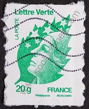 Sello Marianne Beaujard 20g 2011 Francia