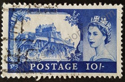 Sello Castillo de Edimburgo Reino Unido 1959