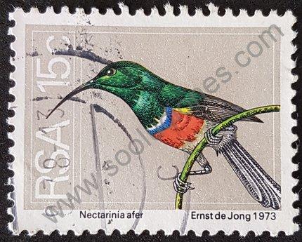 Sello Sudáfrica ave Nectarinia 1974