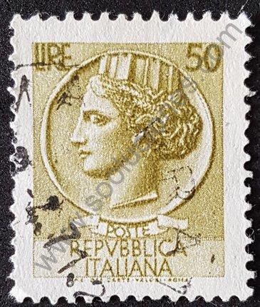 Moneda Siracusa 50 Liras de Italia 1968