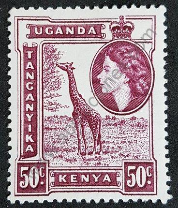 Sello de Kenia-Uganda-Tanganica 1954