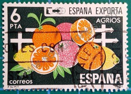 España Exporta Agrios Sello de 1981