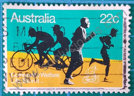 Sello Australia 1980 bienestar comunitario