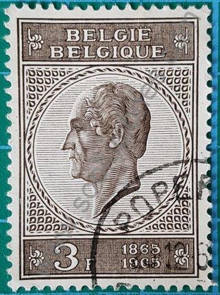 Sello Bélgica 1965 Leopoldo I centenario muerte