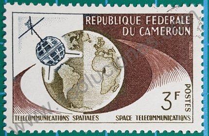Sello Camerún 1963 Telecomunicaciones espaciales
