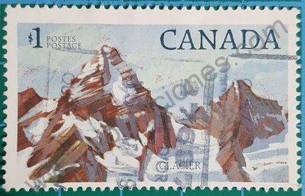 Sello Parque Natural Glacier Canadá 1984