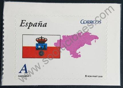 Sellos España 2009 Cantabria bandera y mapa