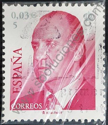 Sello España 2001 Rey Juan Carlos I valor 0,03 €