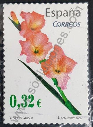 Sello Gladiolo España 2009 valor 0,32€
