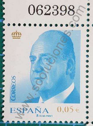 Juan Carlos I Sello de 2008 España 0,05 €
