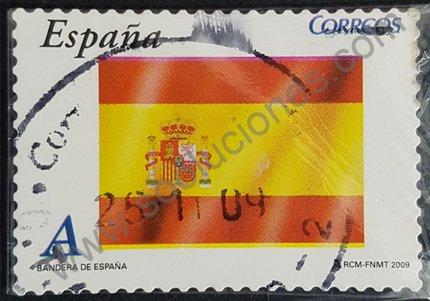 Sello bandera de España 2009