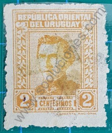 Sellos de Uruguay 1949 General Artigas 2 Centésimos