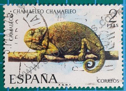 Sello España 1974 Camaleón mediterráneo 2 ptas.