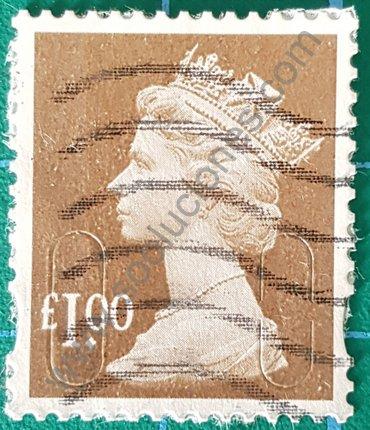 Sello Reino Unido Elizabeth II valor 1 Libra 2013