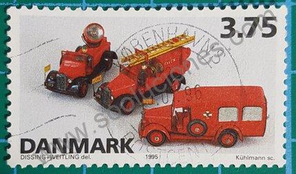 Sello de juguetes daneses 1995 vehículos Tekno