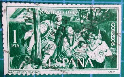 Sello España 1965 Nacimiento de J. Maíno