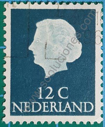 Sello Holanda Reina Juliana 1954 valor 12 c