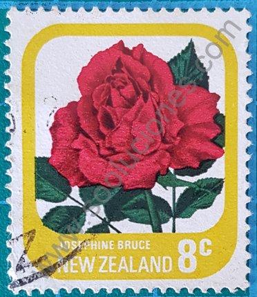 Sello Nueva Zelanda 1976 Rosa Josephine Bruce