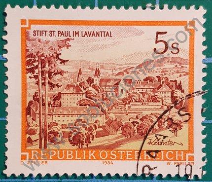 Sello Austria 1985 Monasterio San Pablo 5 ös