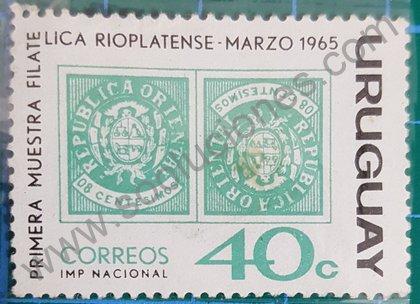 Sellos uruguayos 1965 muestra filatélica Rioplatense