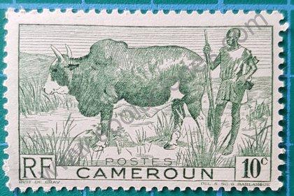 Sellos Camerún 1946 Cebú y pastor