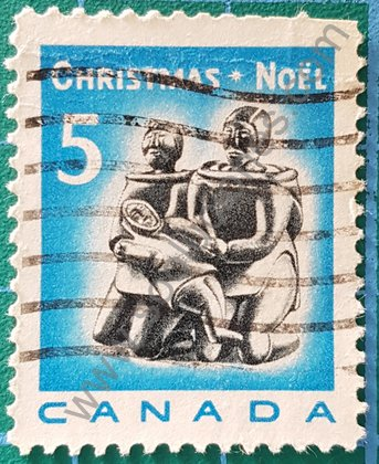 Sellos Canadá 1968 Familia esquimal
