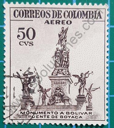 Sellos Colombia Monumento a Bolívar 1954