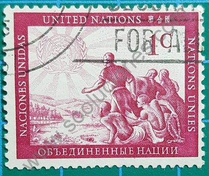 Sello ONU New York Personas 1951
