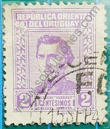 Sellos Uruguay 1941 Artigas valor 2 centésimo