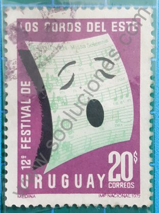 12 aniversario del festival de coros del Este, Sello Uruguay 1972