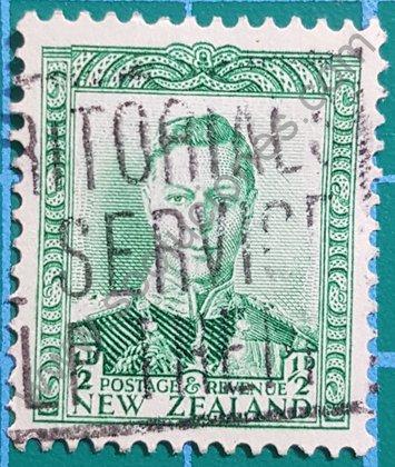 Sello Nueva Zelanda 1938 Rey George VI