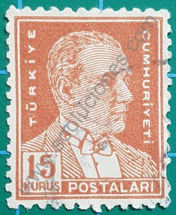 Kemal Atatürk Sello de Turquía 1954