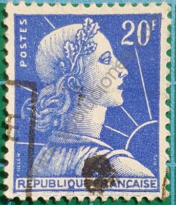 Sello Marianne de Muller 1957 Francia 20F