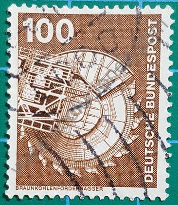 Sello Alemania Excavadora de lignito 1975
