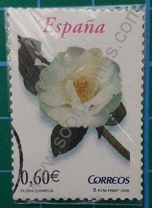 Sellos España 2008 Camelia Valor facial 0,60 €