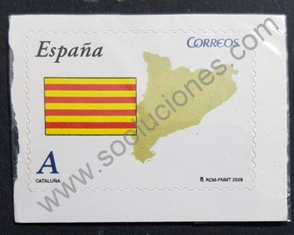 Sellos España 2009 Cataluña bandera y mapa