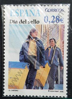 Sello España 2005 El cartero - Día del sello