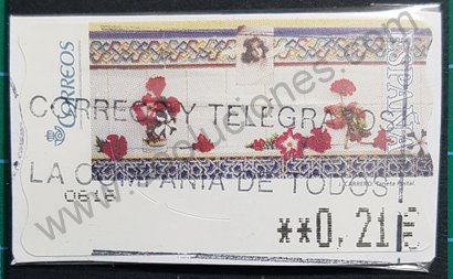 Etiqueta España 2005 La Postal de J. Carrero - ATM