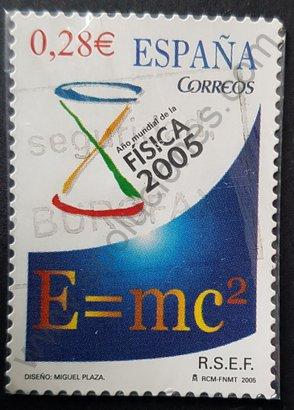 Año mundial de la física sello españa de 2005