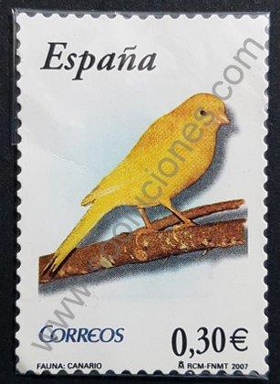 Sellos España 2007 Canario - serie Flora y fauna
