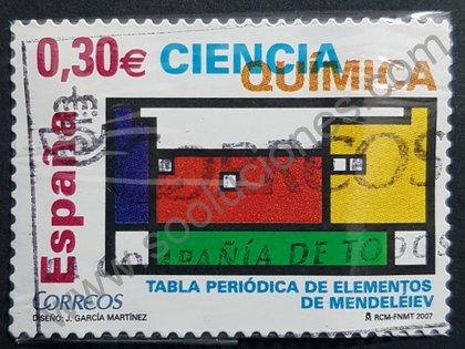 Sellos España 2007 Tabla periódica de Mendeleiev