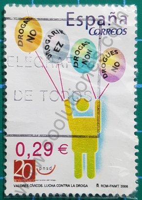 Sello España 2006 No Drogas valores cívicos