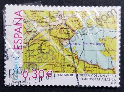 Sellos España 2007 Mapa